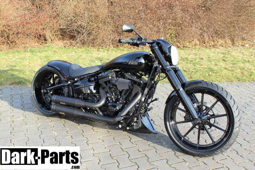 bugspoiler softail breakout t v dark parts. Black Bedroom Furniture Sets. Home Design Ideas